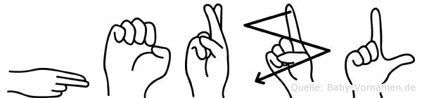 Herzl in Fingersprache für Gehörlose