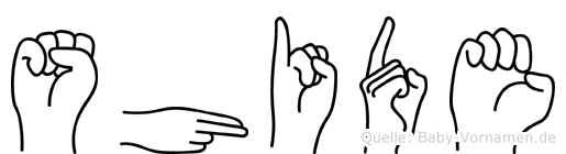 Shide in Fingersprache für Gehörlose