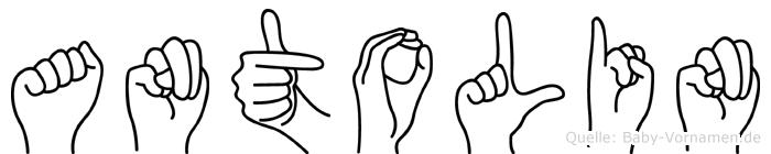 Antolin im Fingeralphabet der Deutschen Gebärdensprache