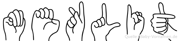 Meklit im Fingeralphabet der Deutschen Gebärdensprache