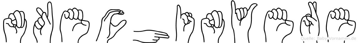 Nkechinyere in Fingersprache für Gehörlose