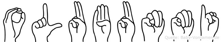 Olubunmi im Fingeralphabet der Deutschen Gebärdensprache