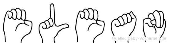 Elean im Fingeralphabet der Deutschen Gebärdensprache
