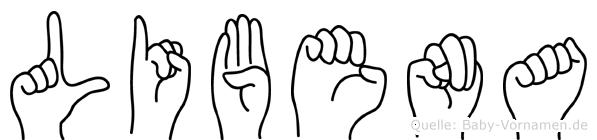 Libena in Fingersprache für Gehörlose