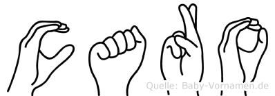Caro im Fingeralphabet der Deutschen Gebärdensprache