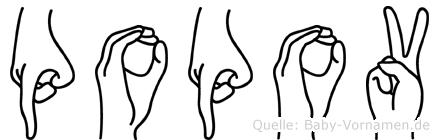 Popov in Fingersprache für Gehörlose