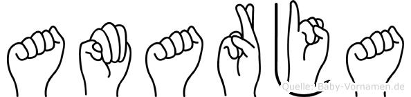 Amarja im Fingeralphabet der Deutschen Gebärdensprache