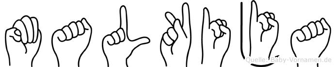 Malkija in Fingersprache für Gehörlose