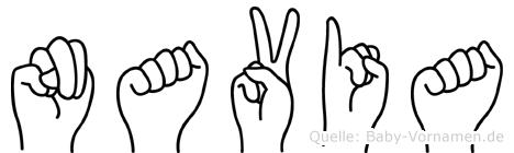 Navia in Fingersprache für Gehörlose