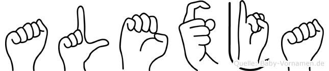 Alexja in Fingersprache für Gehörlose