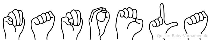 Manoela in Fingersprache für Gehörlose