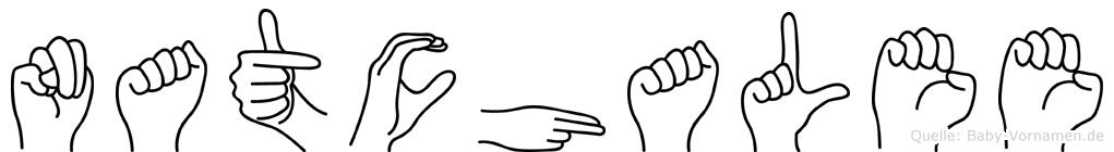 Natchalee im Fingeralphabet der Deutschen Gebärdensprache