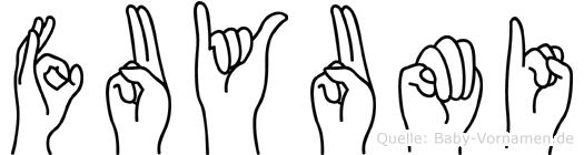 Fuyumi in Fingersprache für Gehörlose