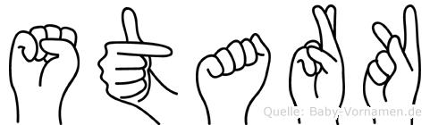Stark im Fingeralphabet der Deutschen Gebärdensprache