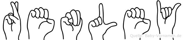 Renley im Fingeralphabet der Deutschen Gebärdensprache