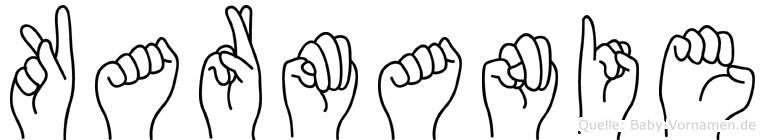 Karmanie im Fingeralphabet der Deutschen Gebärdensprache