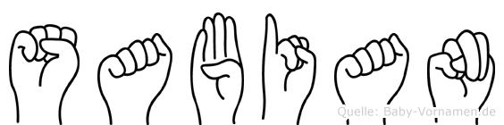 Sabian in Fingersprache für Gehörlose