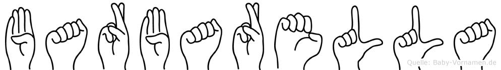 Barbarella im Fingeralphabet der Deutschen Gebärdensprache