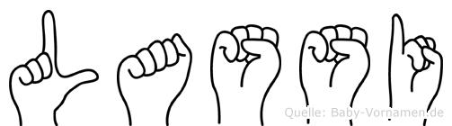 Lassi im Fingeralphabet der Deutschen Gebärdensprache