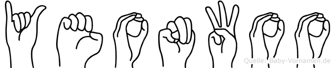 Yeonwoo im Fingeralphabet der Deutschen Gebärdensprache
