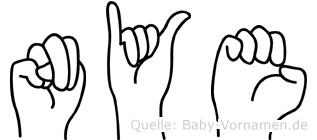 Nye in Fingersprache für Gehörlose