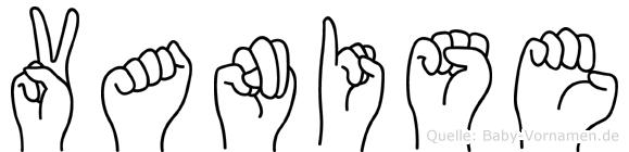 Vanise in Fingersprache für Gehörlose
