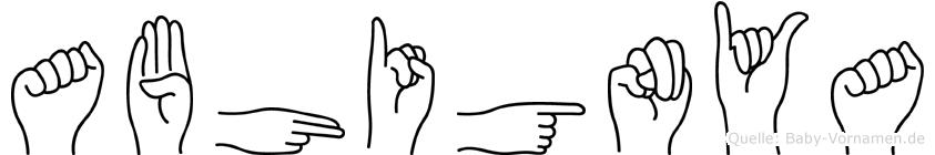 Abhignya in Fingersprache für Gehörlose