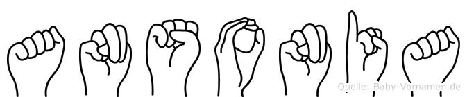 Ansonia in Fingersprache für Gehörlose