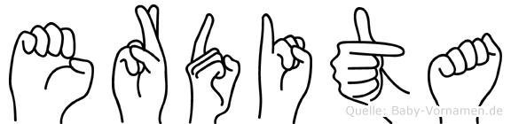 Erdita in Fingersprache für Gehörlose