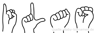 Ilas im Fingeralphabet der Deutschen Gebärdensprache
