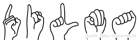 Dilma im Fingeralphabet der Deutschen Gebärdensprache