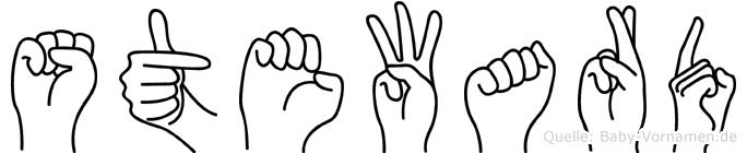 Steward im Fingeralphabet der Deutschen Gebärdensprache
