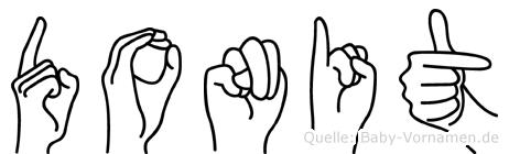 Donit in Fingersprache für Gehörlose
