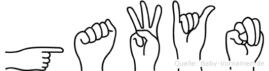 Gawyn in Fingersprache für Gehörlose