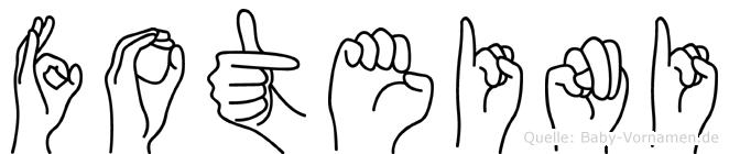 Foteini im Fingeralphabet der Deutschen Gebärdensprache