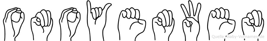 Omoyemwen in Fingersprache für Gehörlose