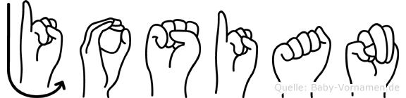 Josian in Fingersprache für Gehörlose