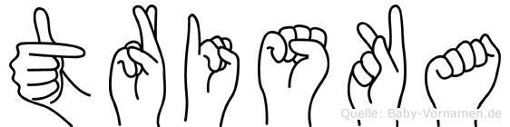 Triska in Fingersprache für Gehörlose