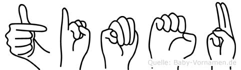 Timeu in Fingersprache für Gehörlose