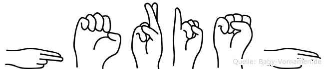Herish im Fingeralphabet der Deutschen Gebärdensprache