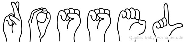 Rossel im Fingeralphabet der Deutschen Gebärdensprache