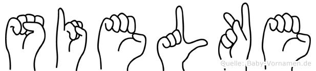 Sielke in Fingersprache für Gehörlose