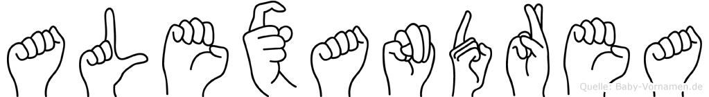 Alexandrea in Fingersprache für Gehörlose