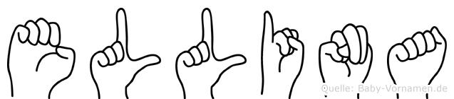 Ellina im Fingeralphabet der Deutschen Gebärdensprache