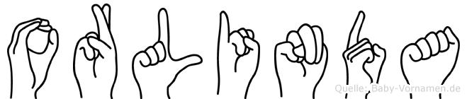 Orlinda im Fingeralphabet der Deutschen Gebärdensprache