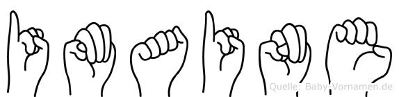 Imaine im Fingeralphabet der Deutschen Gebärdensprache