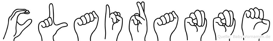 Clairanne in Fingersprache für Gehörlose