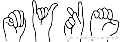 Myke im Fingeralphabet der Deutschen Gebärdensprache