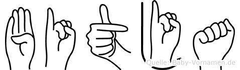 Bitja im Fingeralphabet der Deutschen Gebärdensprache