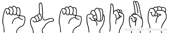 Elenius im Fingeralphabet der Deutschen Gebärdensprache